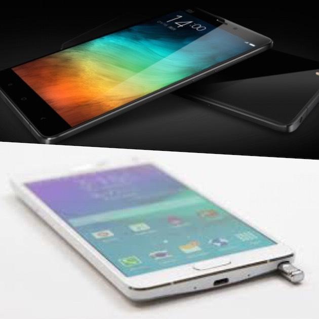 Xiaomi Mi Note Pro sfida Samsung Galaxy Note 4, caratteristiche a confronto