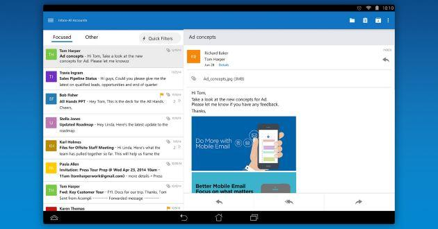 Microsoft Outlook per Android esce dalla beta