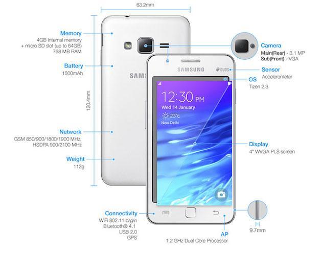 Samsung Z1 ufficiale, primo Smartphone del produttore con OS Tizen