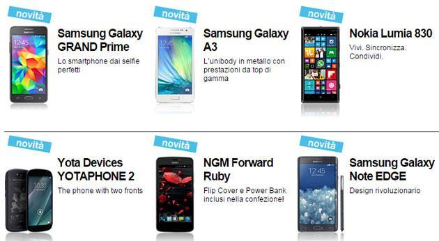 3 Italia, nuovo Listino: Samsung Grand Prime, Galaxy A3 e A5, Nokia Lumia 830