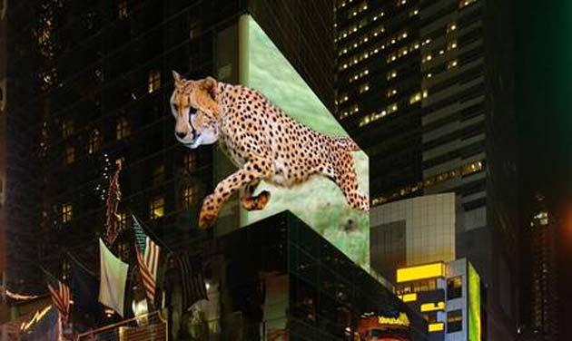 3D, cartelloni pubblicitari tridimensionali dal 2016
