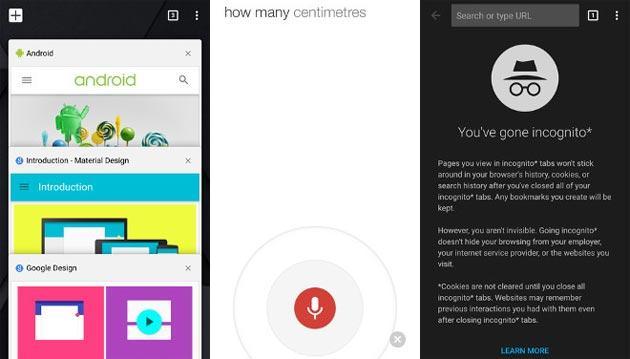 Chrome per iOS con Material Design