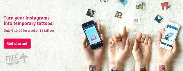 Picattoo trasforma le foto di Instagram in Tatuaggi