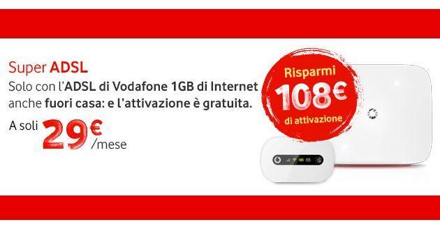 Vodafone ADSL: Attivazione gratuita solo entro stasera