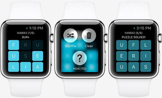 Apple Watch: svelato il primo gioco, Letterpad