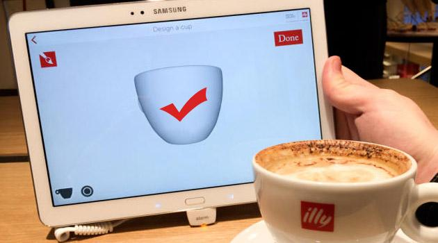 Samsung, tablet Galaxy nei coffee shops Illy
