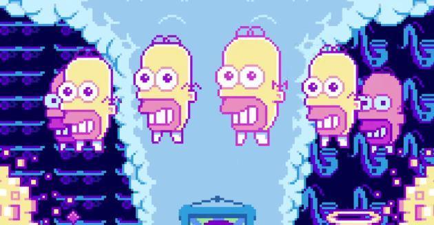 Simpson Pixel, la nuova Gag del divano in stile Console anni 80