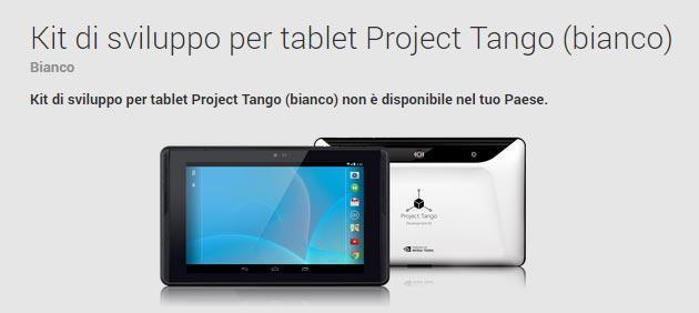 Project Tango, il tablet per sviluppatori arriva nel Play Store
