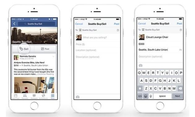 Facebook eCommerce, nuovo pulsante Vendi nei Gruppi