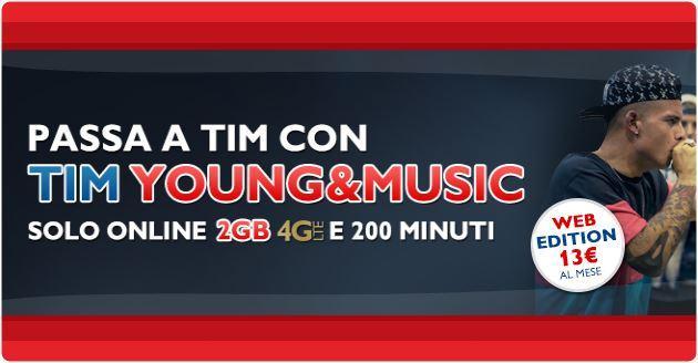 TIM Young Music a 13 euro al mese solo entro stasera