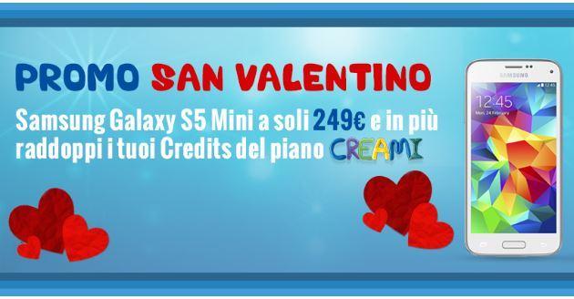 PosteMobile: Galaxy S5 Mini a 249 euro con la Promo San Valentino