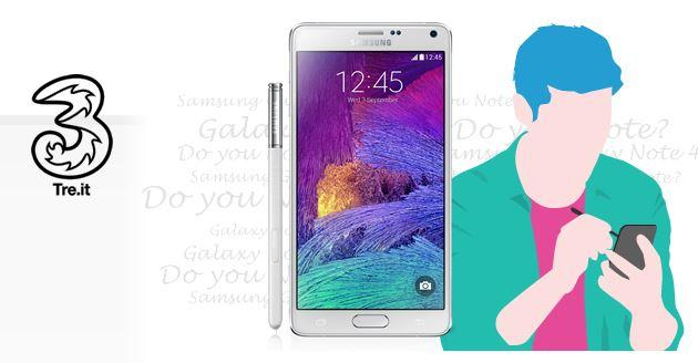 Galaxy Note 4: con Tre Top Unlimited 1 GB LTE al mese in omaggio