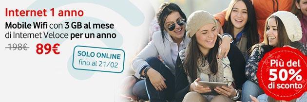 Vodafone: Mobile Wi-Fi con 1 anno di Internet a 89 euro