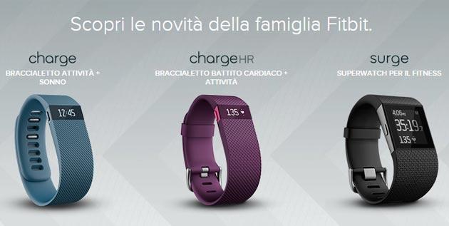Fitbit Charge HR e Surge ora disponibili, in promozione a 110 euro