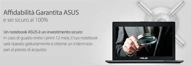 ASUS: Programma Affidabilita' Garantita su tutti i Notebook