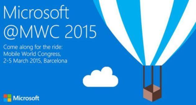 Microsoft: evento MWC 2015 Lunedi' 2 marzo
