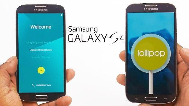 Samsung Galaxy S4 si aggiorna ad Android 5.0 Lollipop