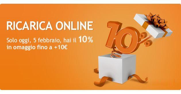 Wind Ricarica online, entro stasera fino a 10 euro in omaggio
