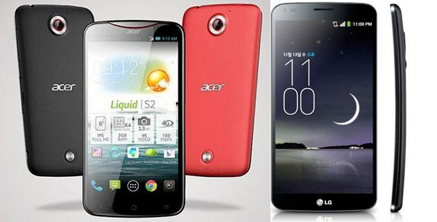 LG G Flex vs Acer Liquid S2, la sfida