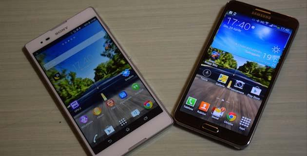 Samsung Galaxy Note 3 Neo LTE vs Sony Xperia T2 Ultra, il video confronto