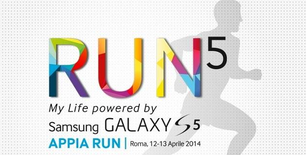 Run5 Galaxy S5, successo per l'evento Samsung a Roma