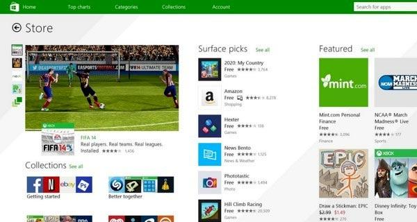 Statistiche Microsoft App Store per Windows 8 e Windows Phone 8 [Aprile 2014]