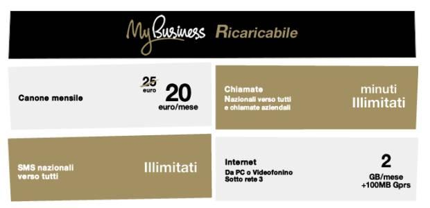 Tre Business: Tariffa My Business Ricaricabile