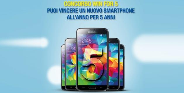 Concorso PosteMobile Win for 5: 24 smartphone in palio