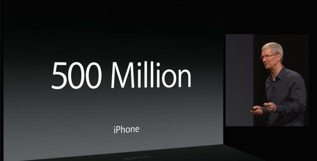 Apple WWDC 2014: 500 milioni di iPhone venduti, 200 milioni di iPad