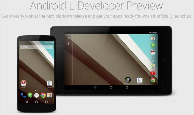 Google Android L Preview: tutte le novita' dal Material Design