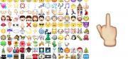 Su Whatsapp l'emoticon col Dito Medio alzato