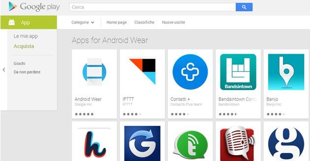 Android Wear, app dedicata disponibile sul Play Store