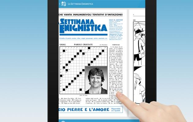 Settimana Enigmistica Digitale sui tablet Android e Apple
