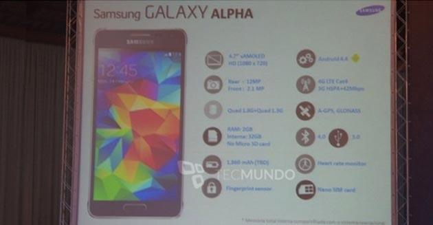 Samsung Galaxy Alpha presentato in Russia: specifiche e prezzo