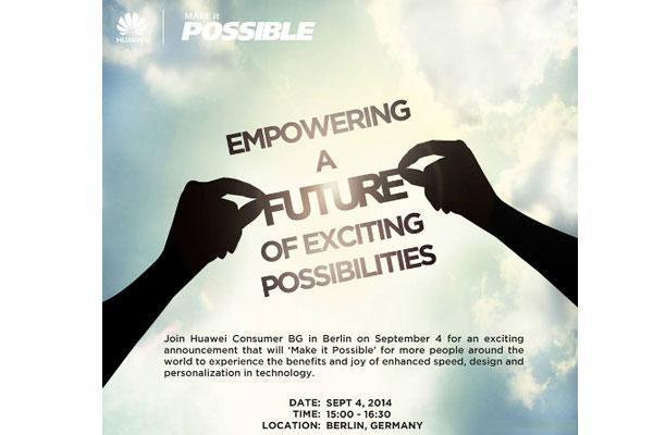 Huawei invito 4 settembre 2014 pre-IFA