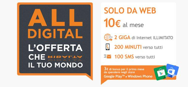 Wind, nuova offerta Wind All Digital