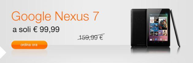 Orange: Tablet Google Nexus 7 in offerta a 99 euro