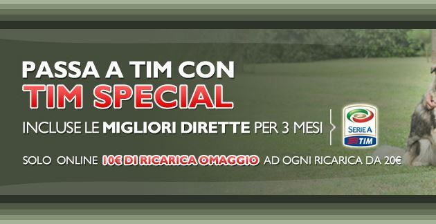 TIM Special Start, 3 mesi di Serie A in streaming inclusi
