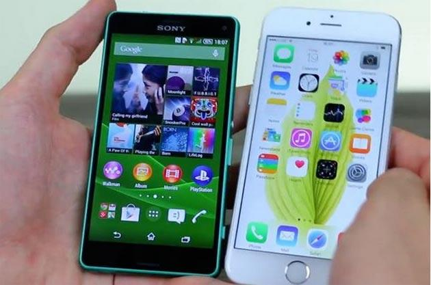 Sony Xperia Z3 Compact: video confronto con iPhone 6