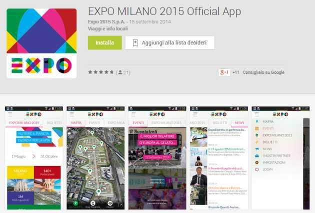 Expo 2015, disponibile App Ufficiale su iOS e Android