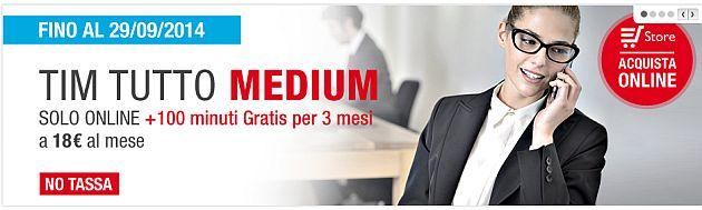 Tim Tutto Medium: Offerta Business Flat con 4G