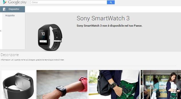 Sony SmartWatch 3 arriva nel Play Store USA