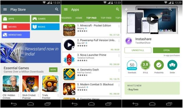 Google Play Store a v5.0 con Material Design, aggiornamento disponibile