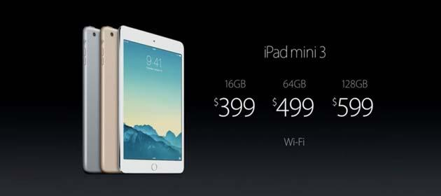 Apple annuncia Apple iPad Mini 3 con TouchID
