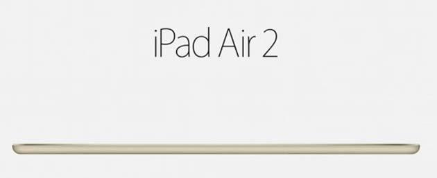 Apple iPad Air 2 annunciato da Apple