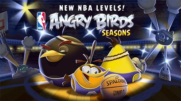 Angry Birds Seasons celebra la stagione 2014-2015 di NBA