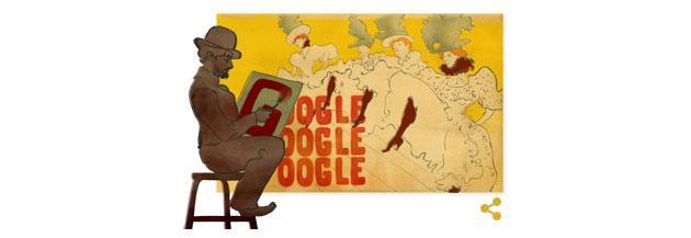 Google Doodle al pittore francese Henri de Toulouse-Lautrec