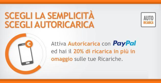 Wind, Ricarica Automatica con PayPal regala Traffico telefonico Omaggio