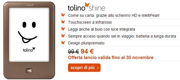 Tolino Shine e Vision2, in vendita nuovi eReader da 99 euro