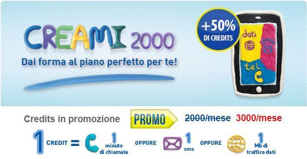 PosteMobile Creami 2000: crediti in Omaggio per attivazioni fino al 29 Novembre